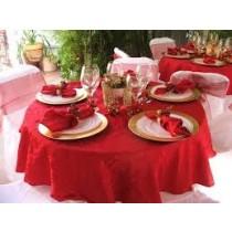 "96"" Round Majestic Dupioni Tablecloth"