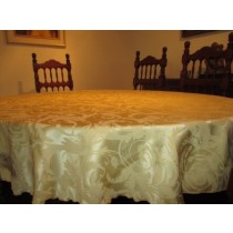 "56"" x 74"" Oval Melrose Damask Tablecloth"