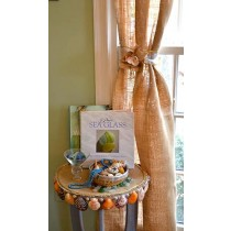 Natural Burlap Curtains 120 x 60 inches