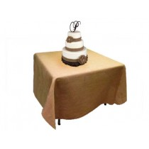 Natural Burlap Tablecloth 108 x 108
