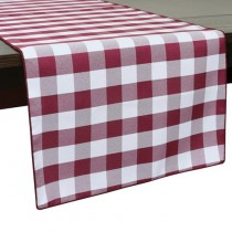 "13"" x 72"" Poly Check Table Runner"