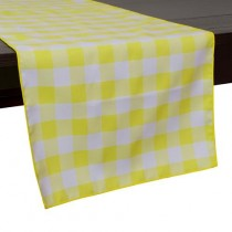 "13"" x 108"" Poly Check Table Runner"