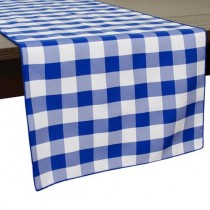 "13"" x 90"" Poly Check Table Runner"