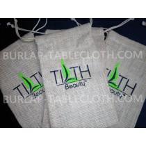 Screen Printed burlap bag with logo