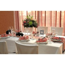 90 X 132 Premier Poly Cotton Tablecloth with rounded corners