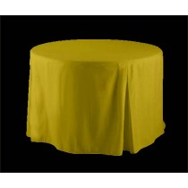 Yellow Polyester 30 inch round fitted tablecloth