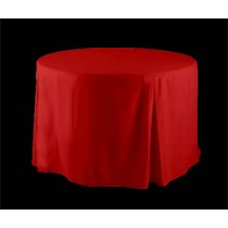 "72"" Round Fitted Tablecloth Poly Premier"