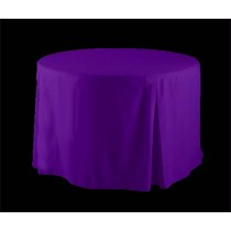 "60"" Round Fitted Tablecloth Poly Premier"