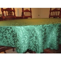 """90"""" x 132"""" Oval Somerset Damask Tablecloth"""