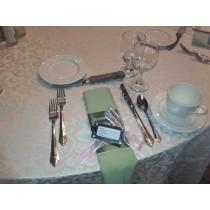 Somerset Damask Ivory Formal Dinner