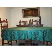 """80"""" x 100"""" Oval Somerset Damask Tablecloth"""