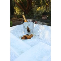 Somerset Damask White With Bucket of Wine