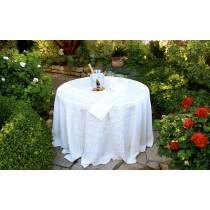 Somerset Damask White in Garden