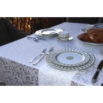 Somerset Damask Ivory Tablecloth Setting