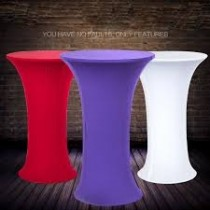 "30"" and 36"" x 30"" Tall Round Spandex Table Cloth"