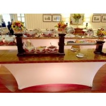 8' Banquet Spandex Table Topper With Elastic