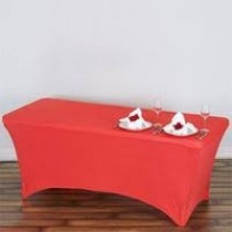 "6'L x 29""H  Spandex Rectangular Table Cover"