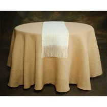 "13"" x 120"" Jute  Burlap Table Runner"