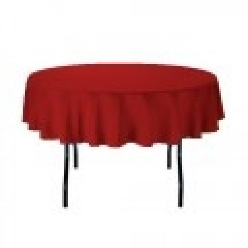 ... Holiday Red Oval Tablecloth ...