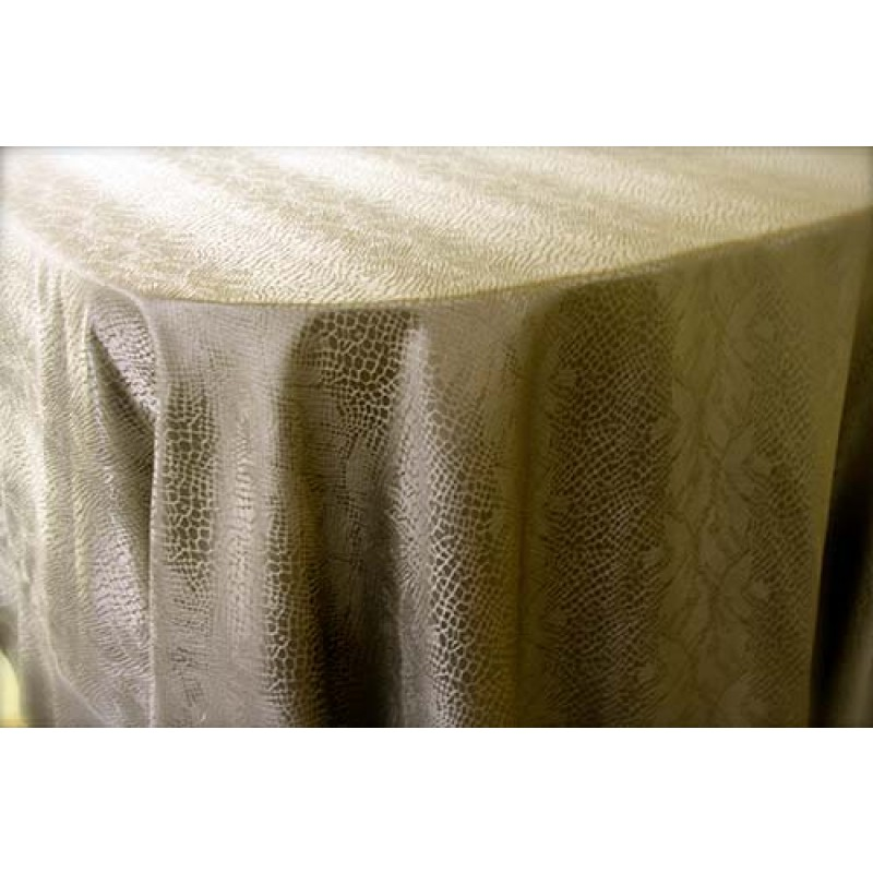 "108""156"" Oval Kenya Damask Tablecloth"