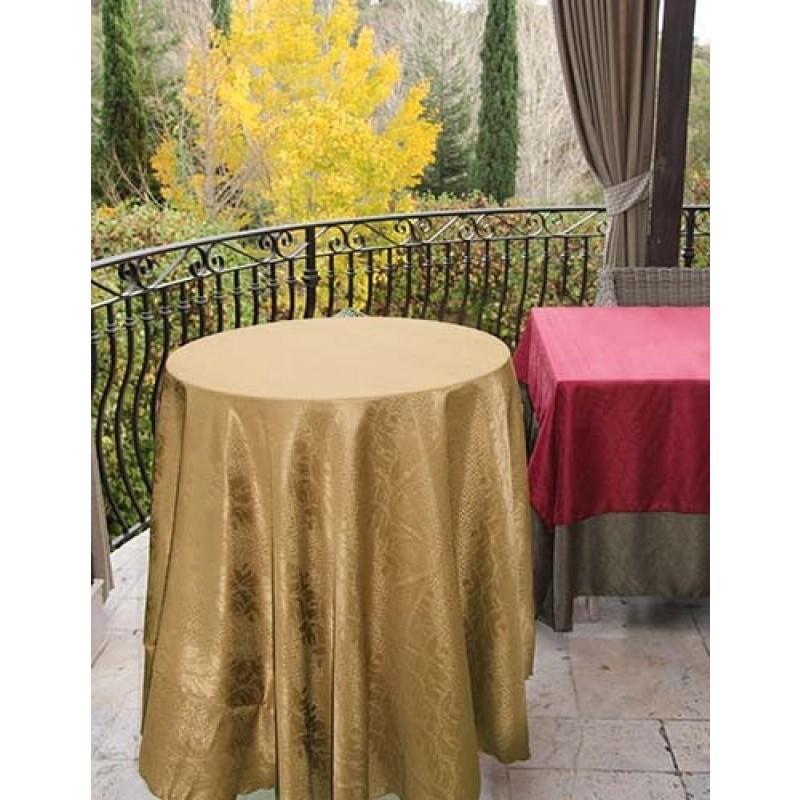 120 Inch Round Tablecloth Kenya Damask