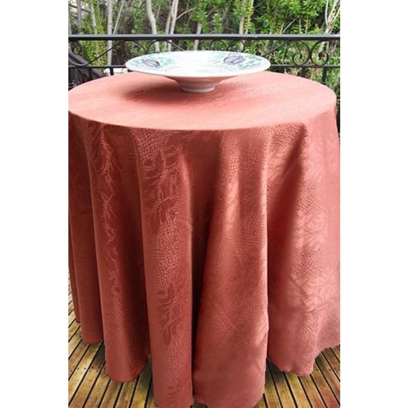 126 Inch Round Tablecloth Kenya Damask