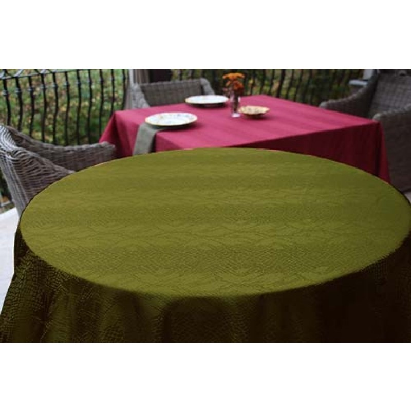 132 inch round tablecloth kenya damask