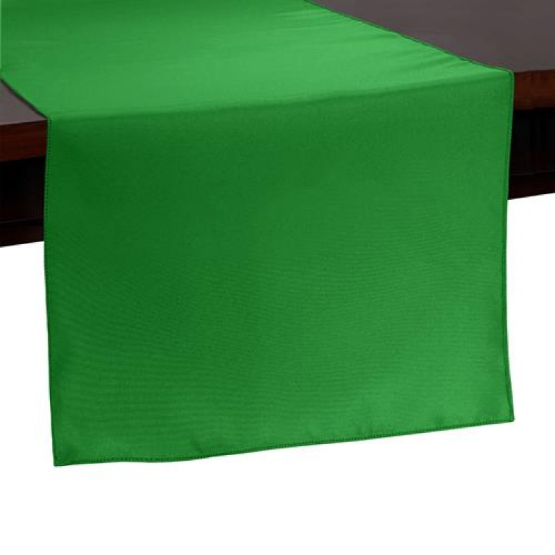 kelly green table runner