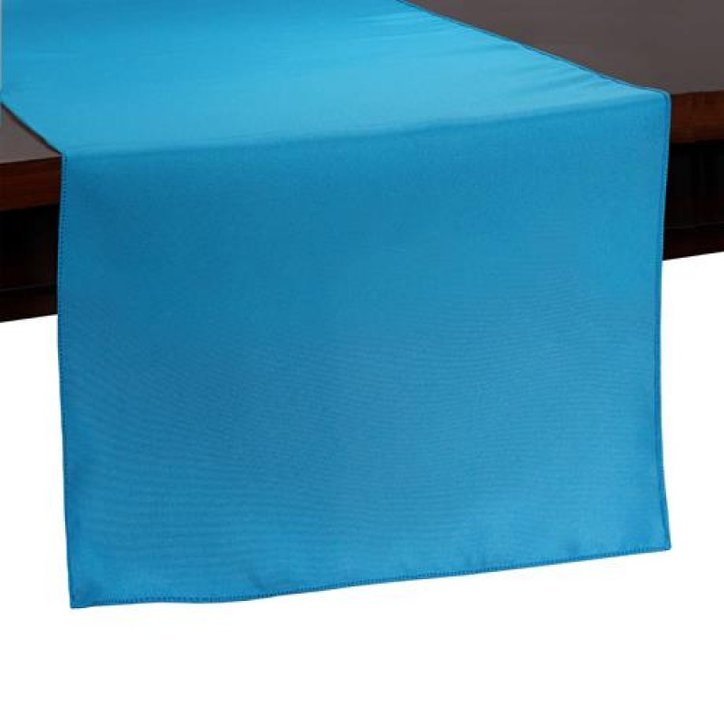 aqua blue table runner