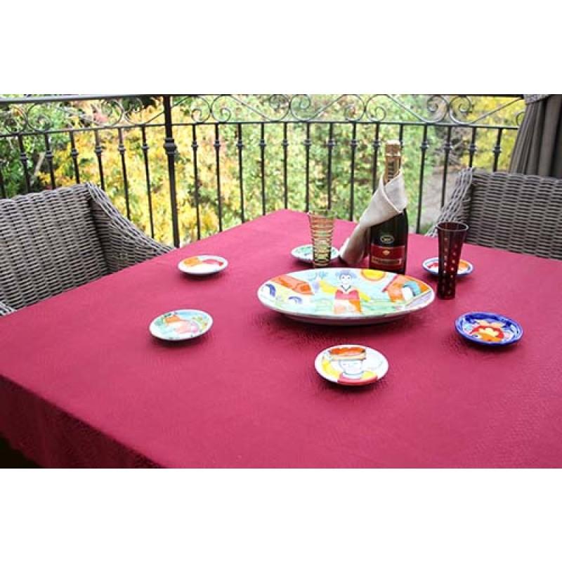 """45""""x45"""" Kenya Damask Tablecloth"""