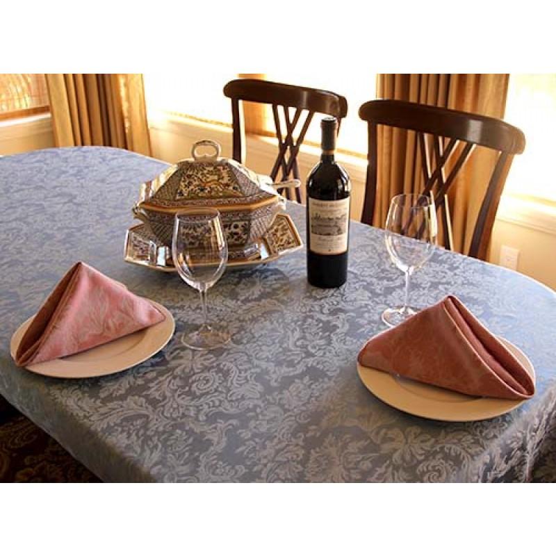 Miranda Damask Pewter Dinning with Wine