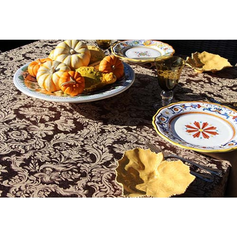 Miranda Damask Black Dinning Set