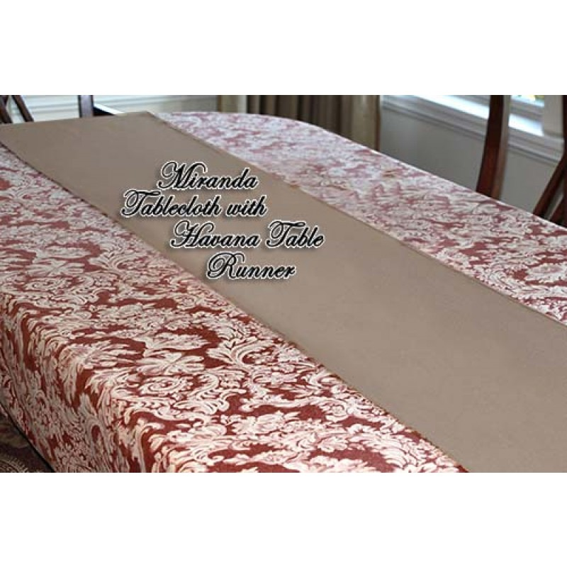 Miranda Damask Tablecloth