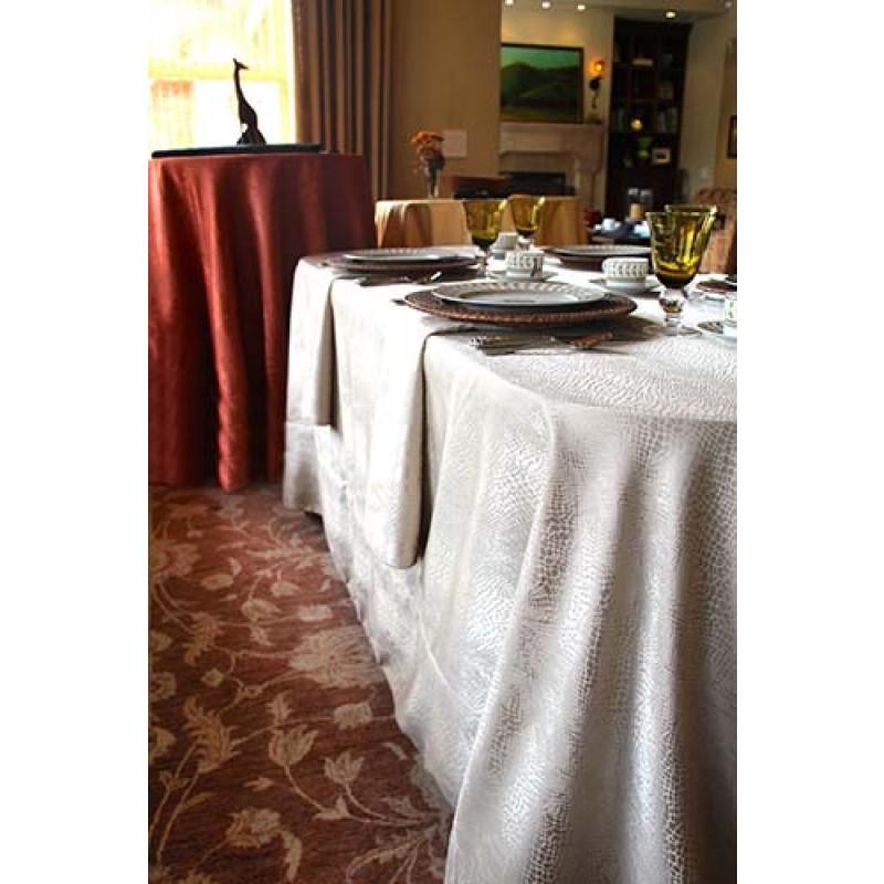 """90""""x156"""" Kenya Damask Tablecloth"""
