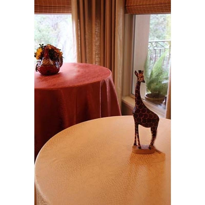96 Inch Round Tablecloth Kenya Damask