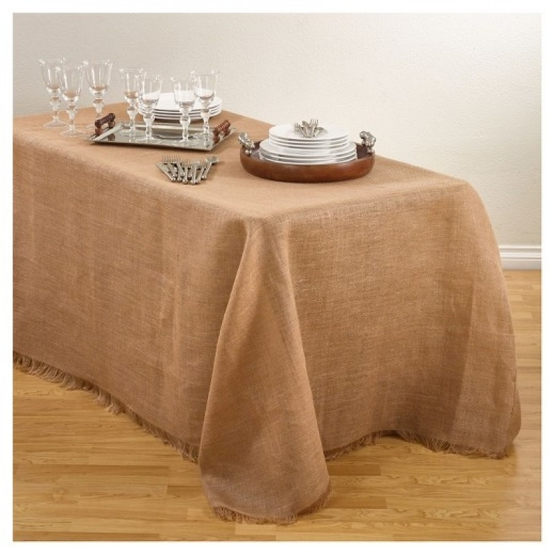 Browse fringe burlap tablecloths and overlays 60 x 108 inch for 60 burlap