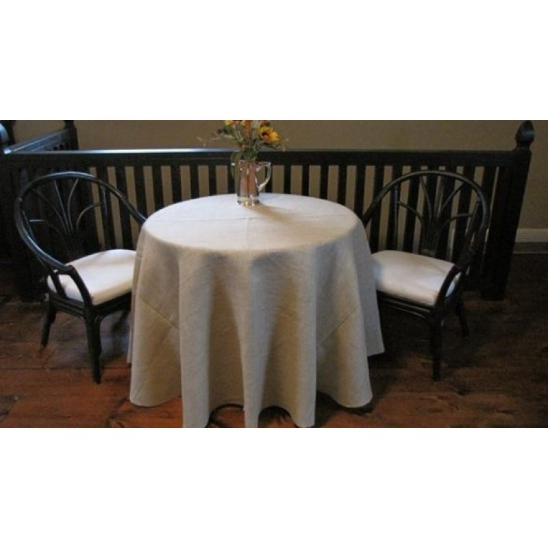 Find Natural Burlap Tablecloth 120 Round Wholesale Price
