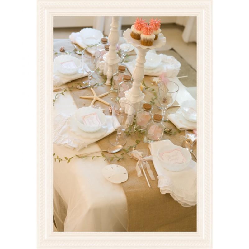 Burlap Table Runner 13 x 72 Natural or White