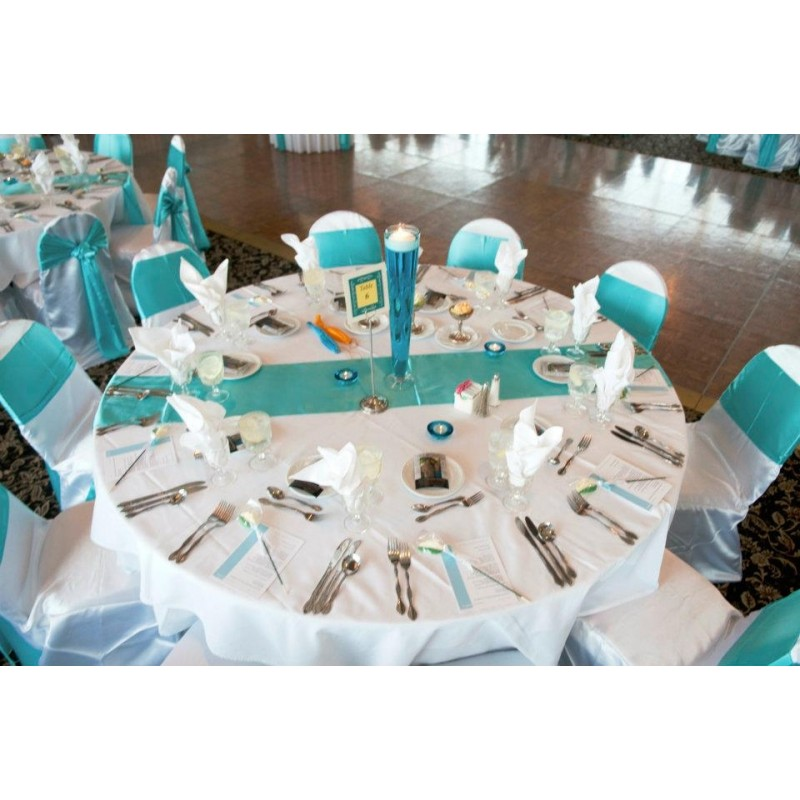 Satin Turquoise Table Runners