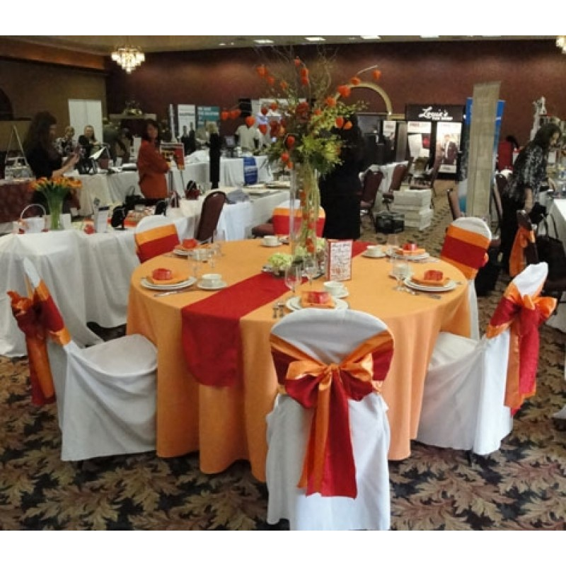 Orange Satin Table Runner