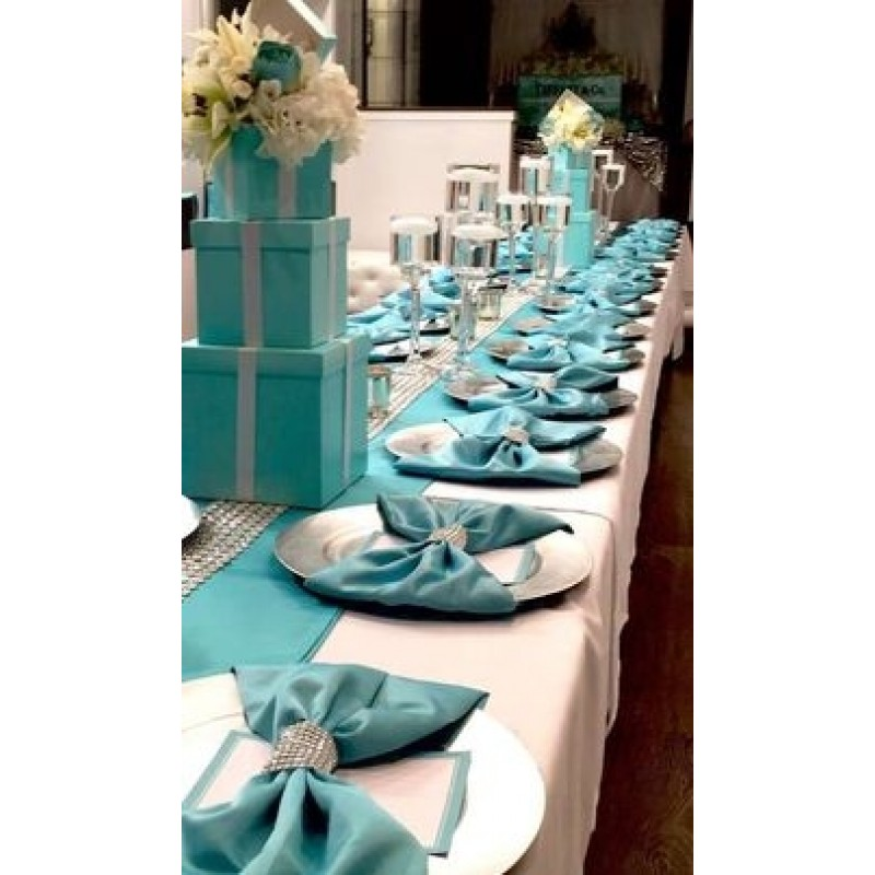 Satin Turquoise Table Runner