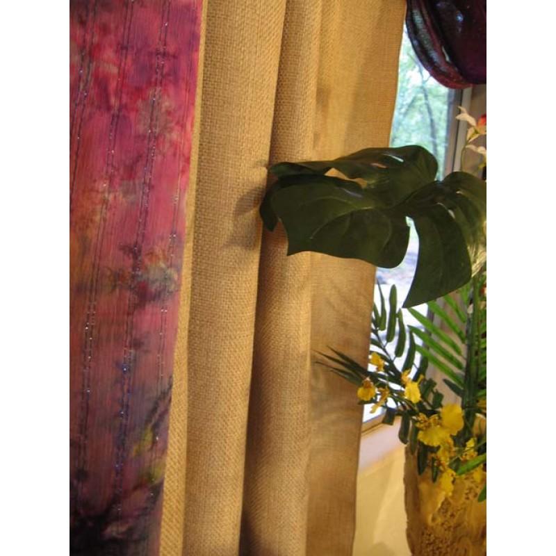 Havana Faux Burlap Drapes 96 high  x 62 inch wide