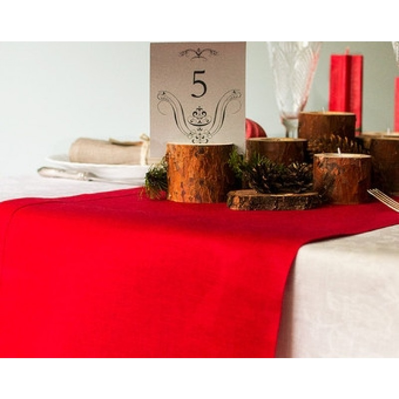 holiday red table runner