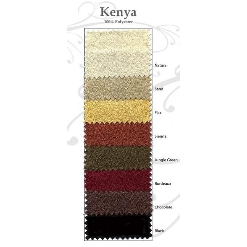 Kenya damask color swatch card