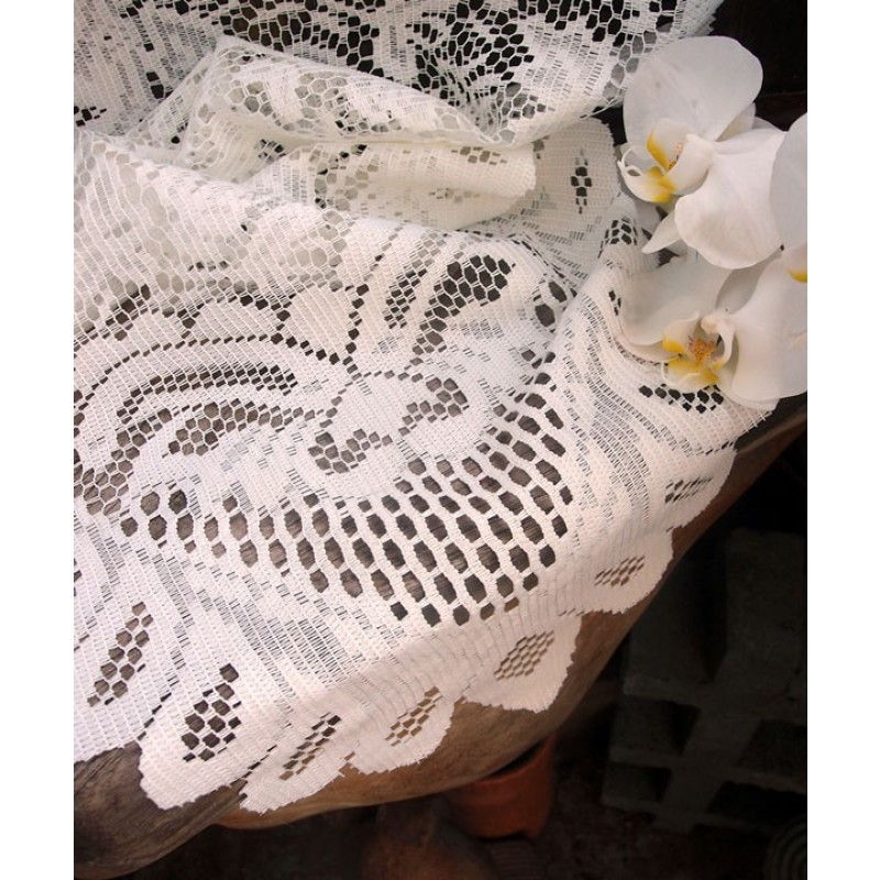 Lace Table Runner Ivory 13 x 76