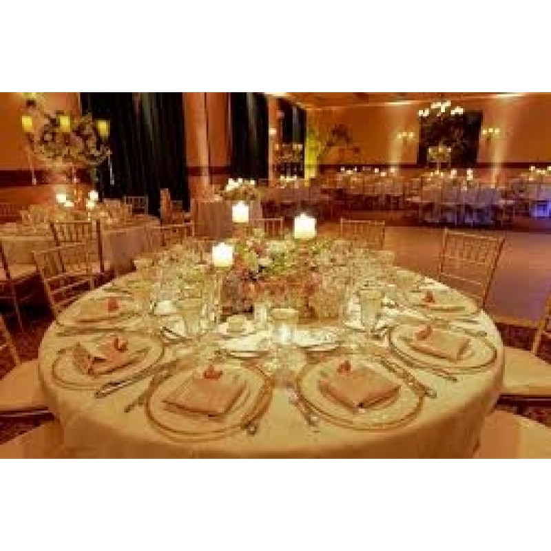 120 Inch Round Majestic Dupioni Tablecloth