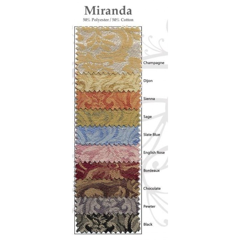 Miranda damask color swatch card