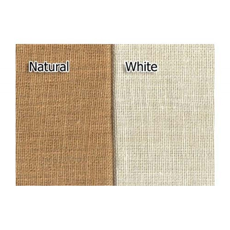 Burlap Fabric Sold by the Yard Natural or White