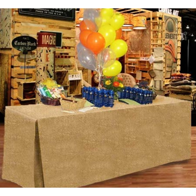 24 X 48 X 36 Fitted Tablecloth Burlap Event Linens