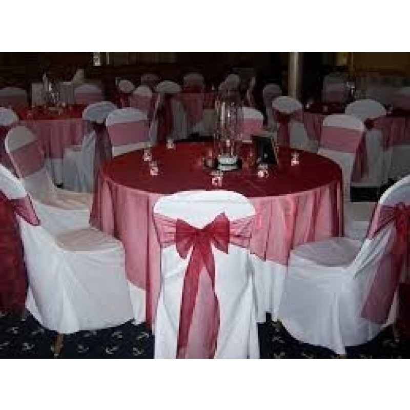 90 Inch Round Organza Tablecloth Or Overlay